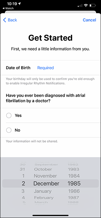 consent form for irregular heart rate notifications