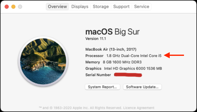 About This Mac Intel