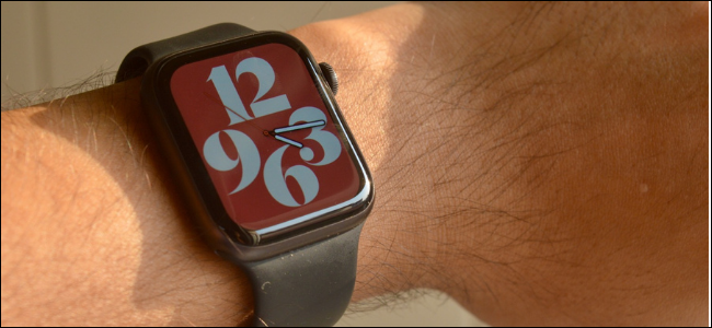 Apple Watch with Colorful Typography Watch Face
