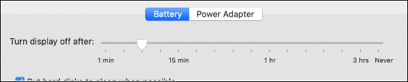 """The """"Battery"""" tab."""
