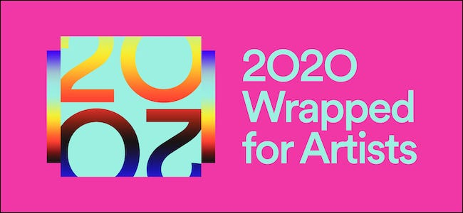 Spotify for Artists Wrapped 2020 logo