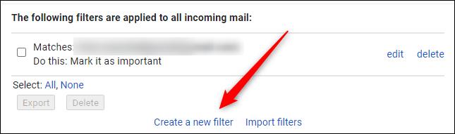 Create a new filter button