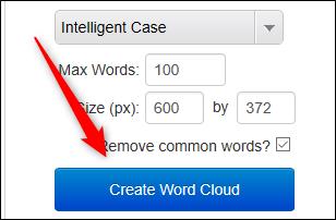 Create word cloud button