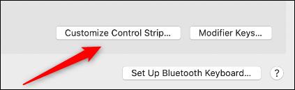 Customize control strip
