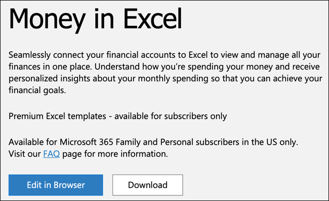 Click Download for Money In Excel
