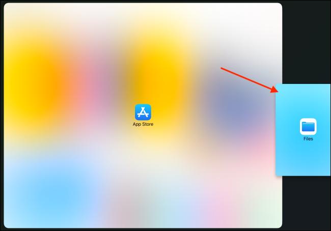 Drop App To Right Edge of iPad