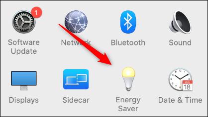 """Click """"Energy Saver."""""""