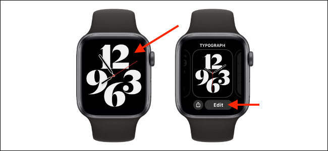 Enter Customization Mode for Apple Watch