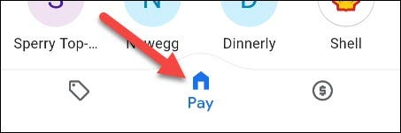 google pay home tab