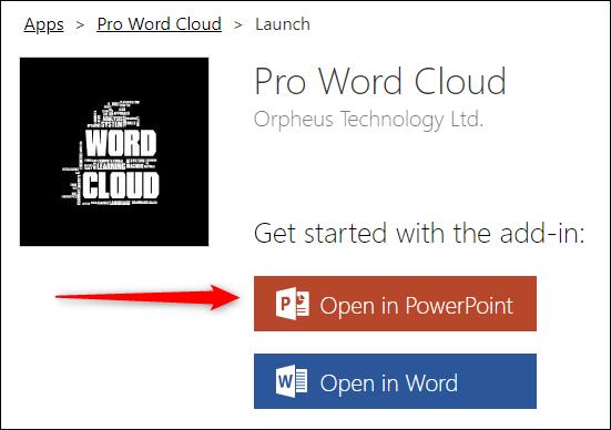 Open in PowerPoint button