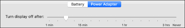 """The """"Power Adapter"""" tab."""