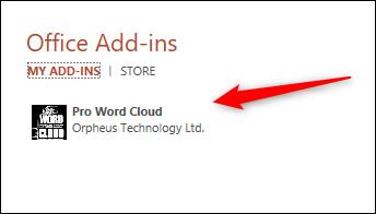 Pro Word Cloud add-in