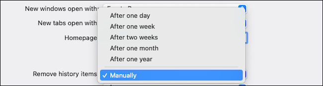 Automatically remove browsing history on Safari macOS