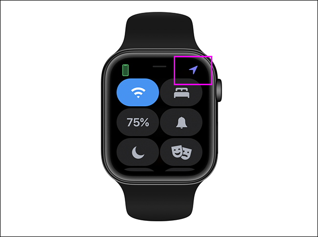 location services in use on Apple Watch