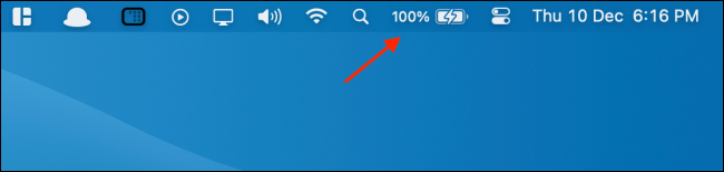 See Battery with Percentage in Menu Bar