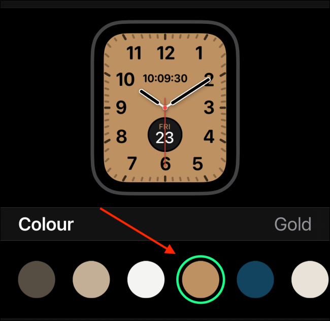 Select Color for Watch Face
