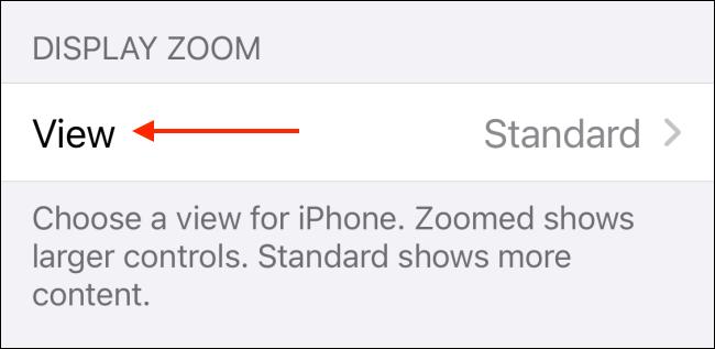 Seleziona Visualizza in Zoom display