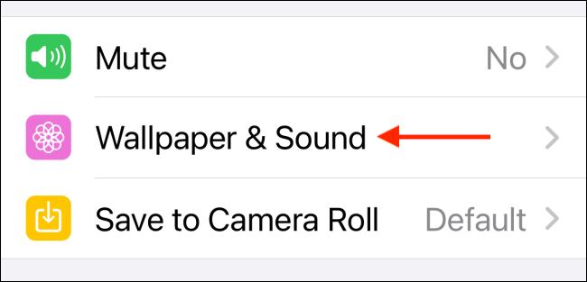Select Wallpaper & Sound