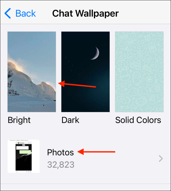 Select Wallpaper or Choose My Photos