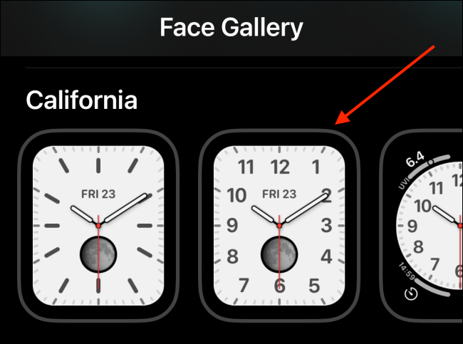 Select a Watch Face from Face Gallery