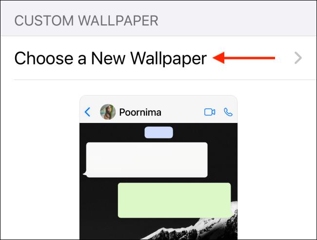 Tap Choose a New Wallpaper