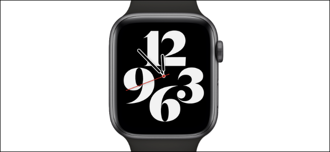 Typograph Watch Face on Apple Watch