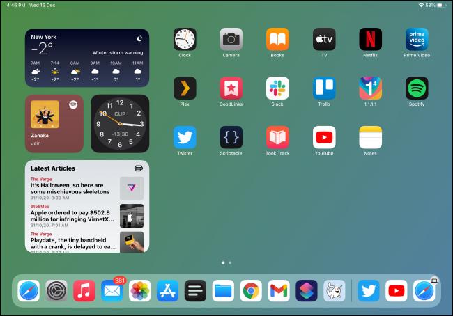 Widget in iPadOS 14