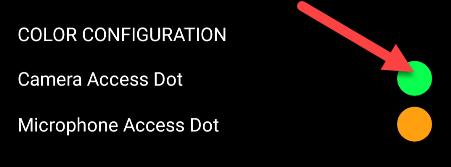 change the dots color