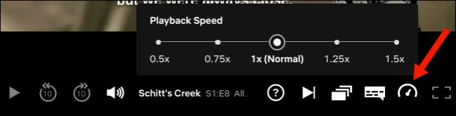 Adjust playback speed on Netflix website