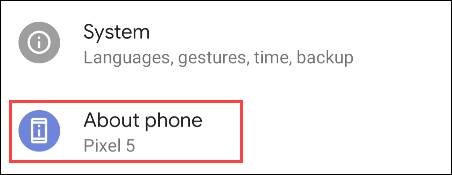 select About Phone