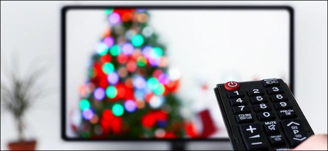 Christmas movie streaming on a TV