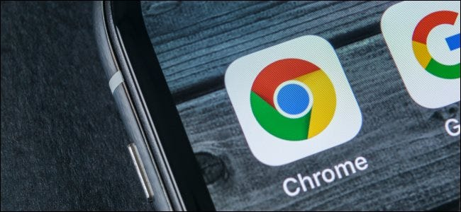 The Chrome app icon on an iPhone home screen.