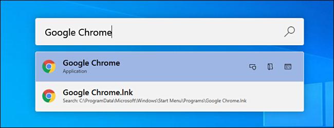 """Pesquisando por """"Google Chrome"""" nos PowerToys executados no Windows 10."""