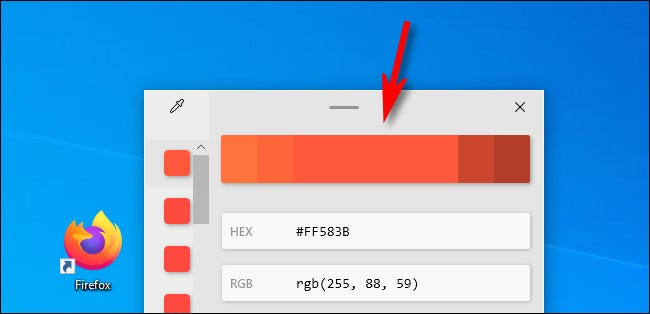 In Color Picker, click the color bar to adjust the color values.