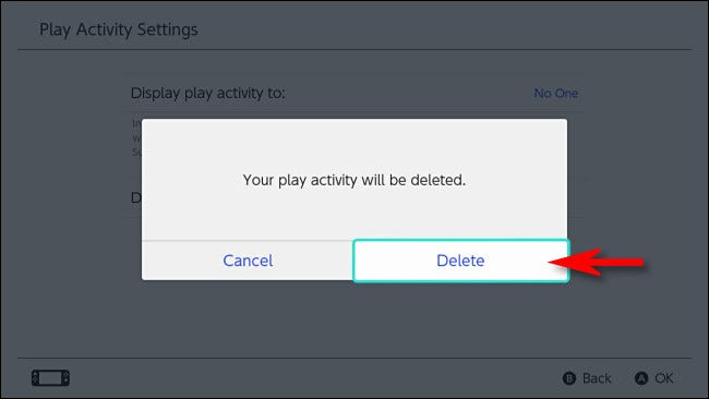 """Select """"Delete"""" to confirm."""