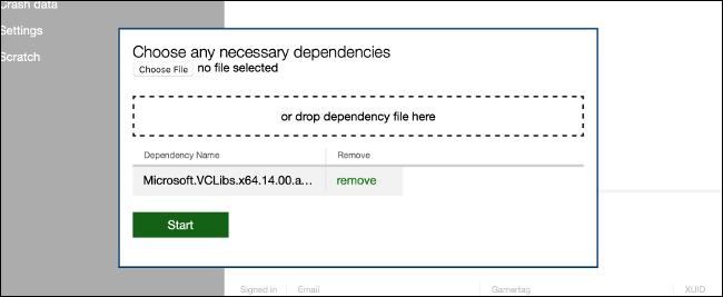 Install UWP Dependencies