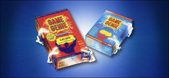 Galoob Game Genie SNES and Game Boy Boxes