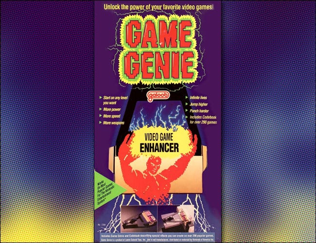 The NES Galoob Game Genie box art.