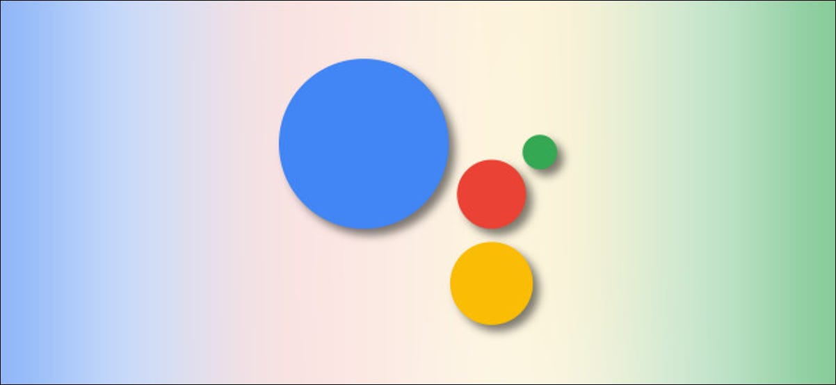 Google Assistant Logo on Google colors background