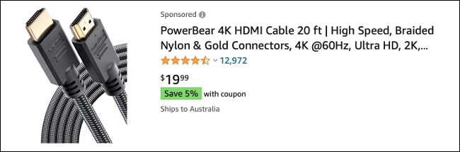 HDMI Cable on Amazon