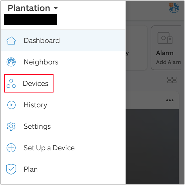 """Select """"Devices"""""""