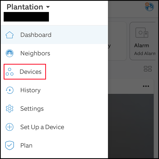 "Select ""Devices"""