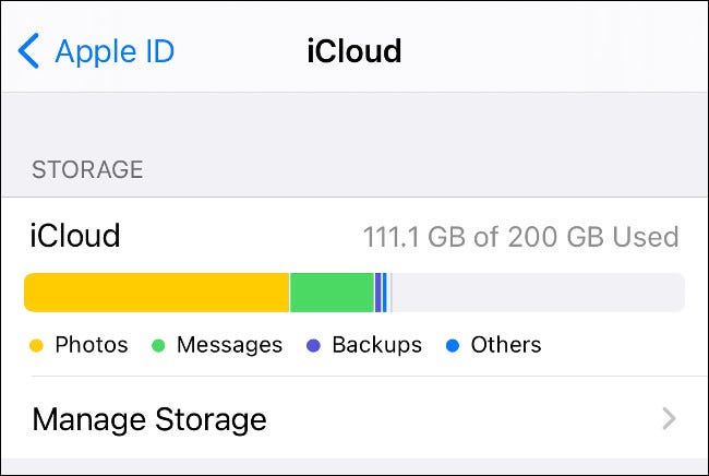 iCloud Storage management