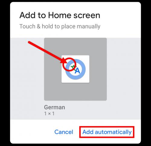 interpreter mode shortcut pop up