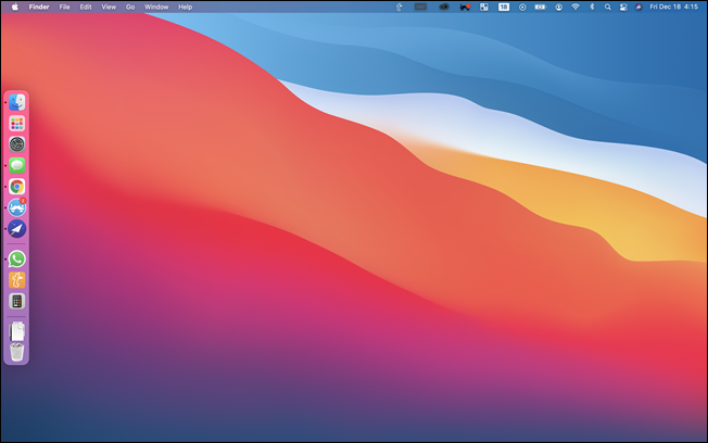sidebar dock on Mac