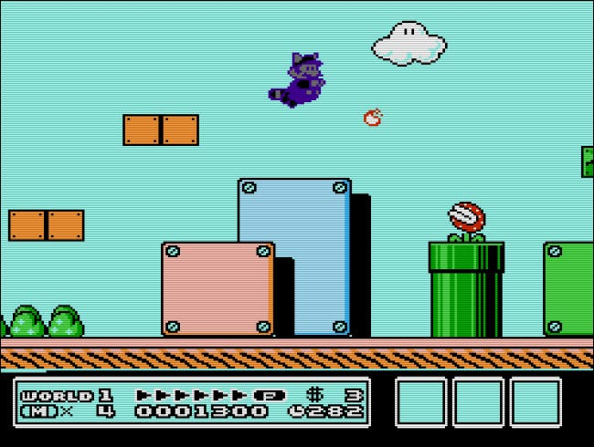 The Game Genie could produce amusing, novel effects, such as swimming purple racoon mario