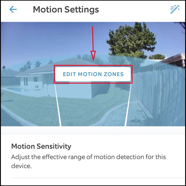 Tap 'Edit Motion Zones'.