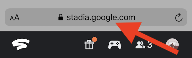 Navigate to Stadia's website
