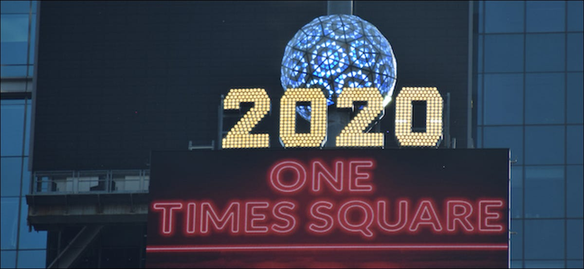 2020 New Year's Eve Ball Drop in NYC