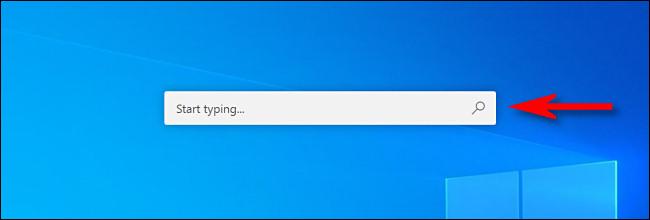 The Microsoft PowerToys Run search bar